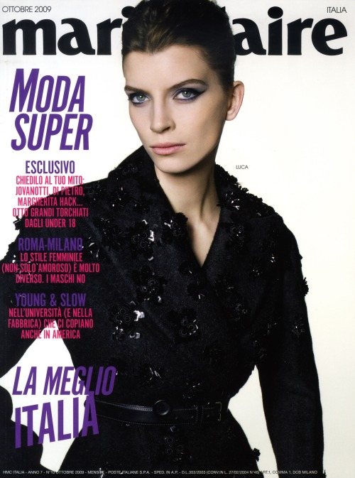COVER MARIE CLAIRE ITALIA OCTOBER 2009
